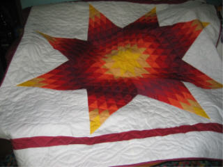 Roter Star Quilt