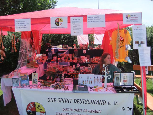 Our stall with raffle prizes