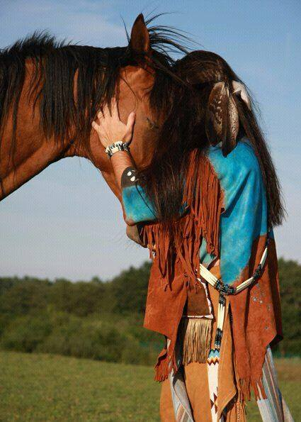 Lakota and horse