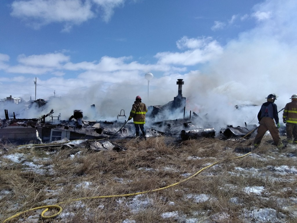 Burnt down Lakota home