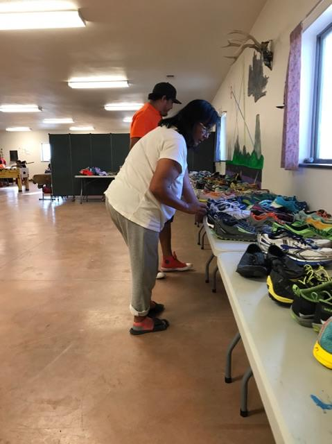 Sorting Shoes at AYC